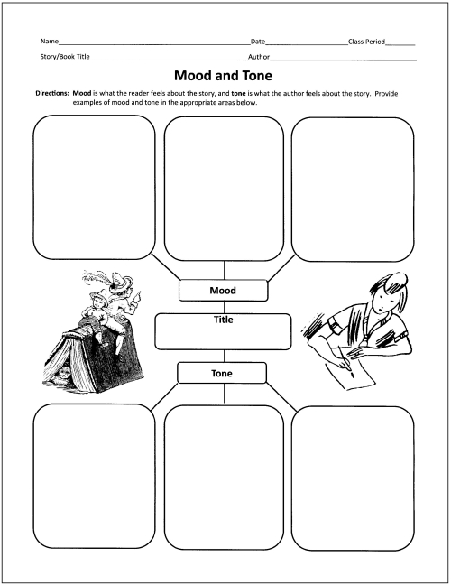 Free Graphic Organizers for Teaching Literature and Reading – Elements of Fiction Worksheet