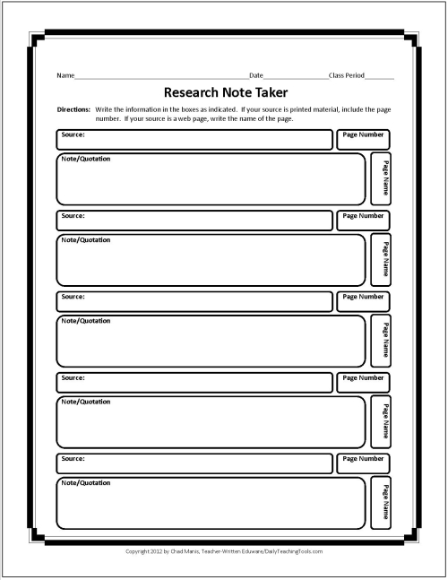 research paper note taking Masterful note taking competent note taking developing note taking clear highlighting or bracketing throughout paper messy, hard‐to see, or incomplete.