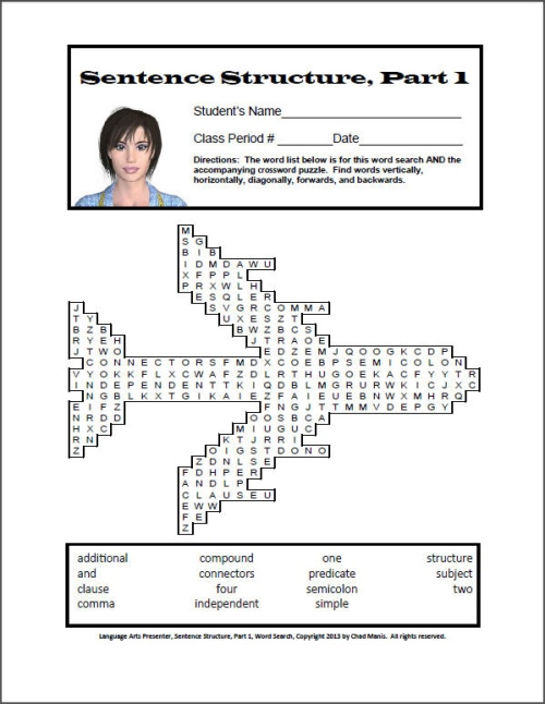 instruction for word search puzzle