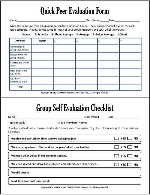 Writing Self Assessments Examples