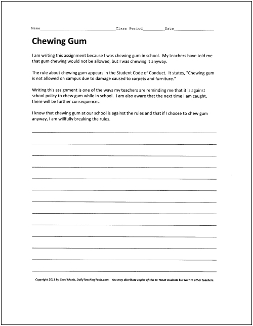 500 word gum essay ideas?