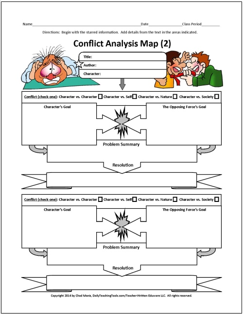 Conflict resolution worksheets for middle school students