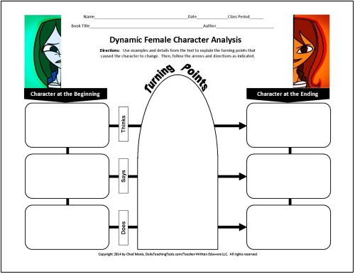 More free graphic organizers for teaching literature and reading another focuses on characters responses to specific events free graphic organizers heres what they look like ccuart Images