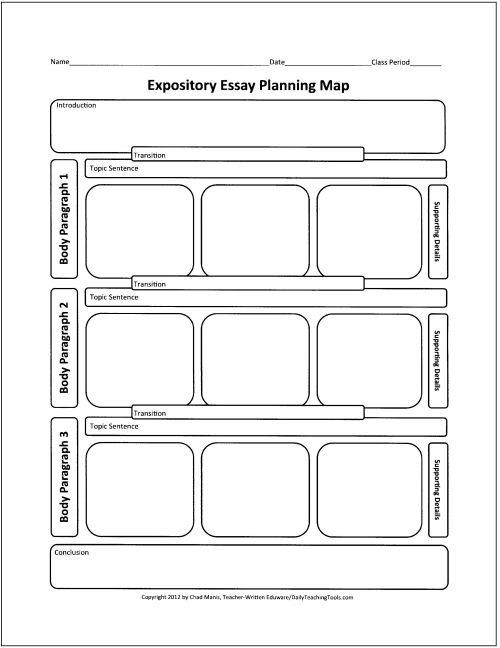 narrative essay graphic organizer fourth grade