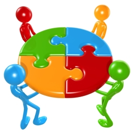 Group Cooperation Little Man Icon White Collar, Business ...  |Group Cooperation