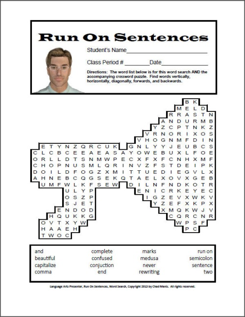 how to find a run on sentence