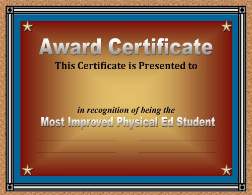 certificate of achievement for students