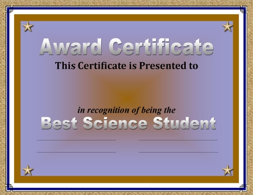 Certificate of Achievement: 50 Awards Recognizing Student Excellence