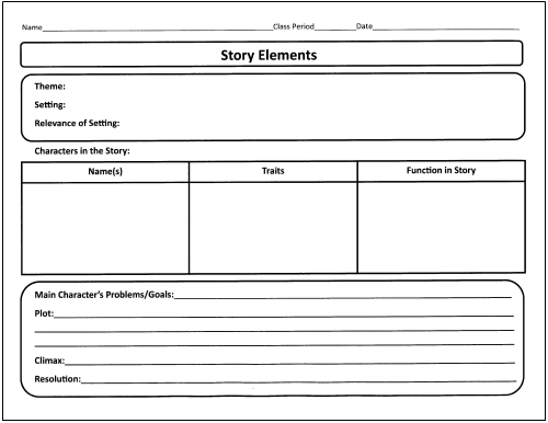 Literary Terms Worksheet Pdf Free Worksheets Library – Story Structure Worksheets