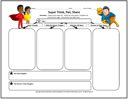 Think Pair Share Worksheet Samsungblueearth – Think Pair Share Worksheet